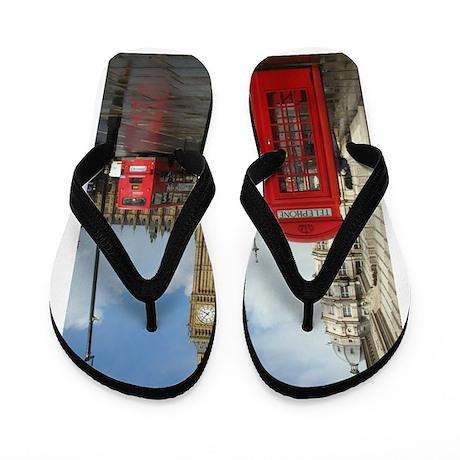 London phone box Flip Flops