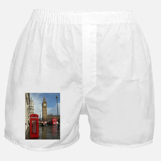London phone box Boxer Shorts