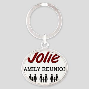 3-Jolie Oval Keychain