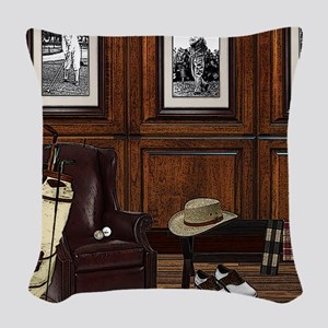 Country Club Woven Throw Pillow