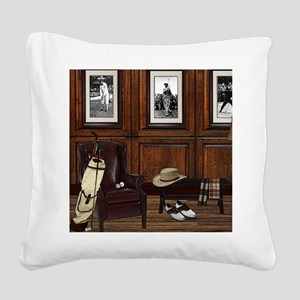 Country Club Square Canvas Pillow