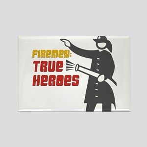 True Heroes Firefighter Rectangle Magnet