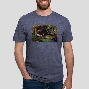 millais-ophelia_12x8 Mens Tri-blend T-Shirt