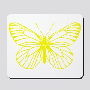 Yellow Butterfly Drawing Mousepad