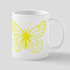 Yellow Butterfly Drawing Small Mug