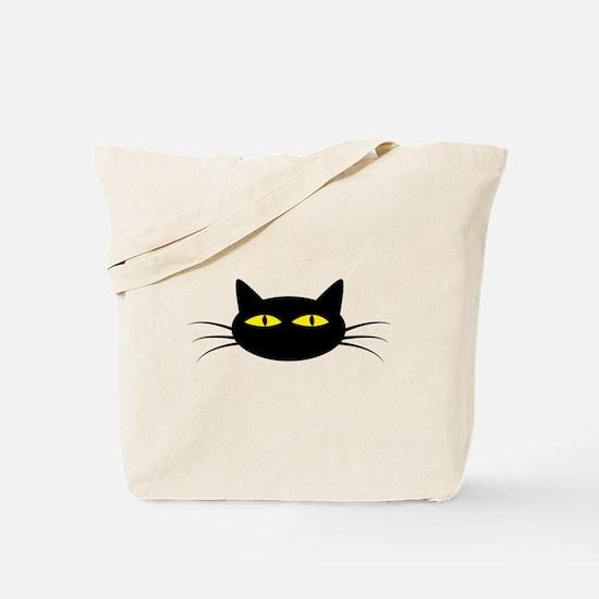Black Cat Face Tote Bag