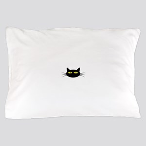 Black Cat Face Pillow Case
