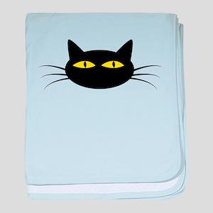 Black Cat Face baby blanket