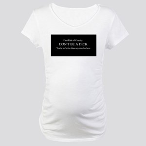 Rules of Cosplay Maternity T-Shirt