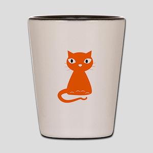 Cartoon Orange Cat Shot Glass