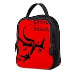 Black Spitfire Dragon Neoprene Lunch Bag