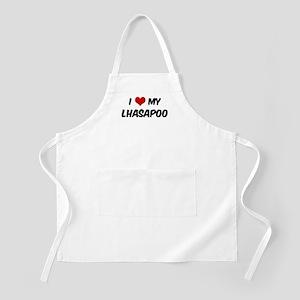 I Love: Lhasapoo BBQ Apron