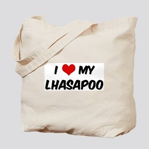 I Love: Lhasapoo Tote Bag