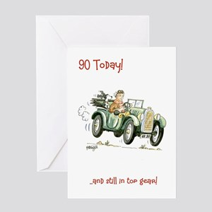 90 today Greeting Card - still in top gear