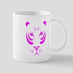 Pink Tiger Face Small Mug
