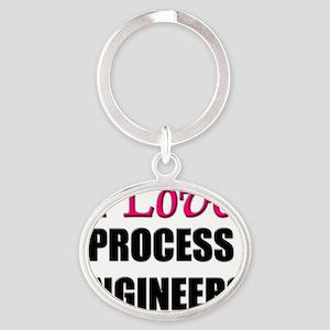 PROCESS-ENGINEERS107 Oval Keychain