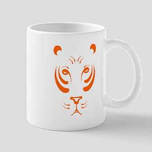 Orange Tiger Face Small Mug