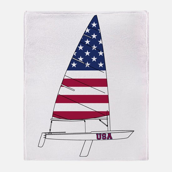 American Dinghy Sailing Throw Blanket