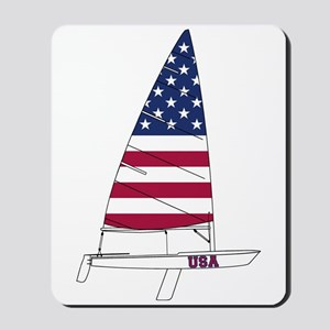 American Dinghy Sailing Mousepad