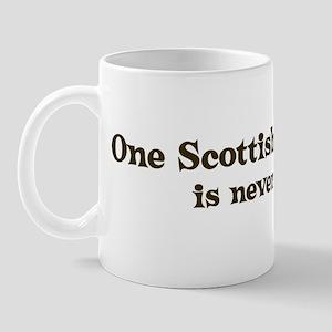 One Scottish Deerhound Mug