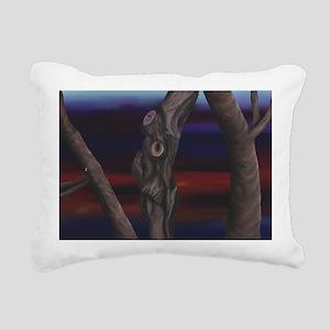 Run From The Grumpy Tree Rectangular Canvas Pillow