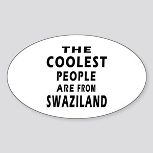 The Coolest Swaziland Designs Sticker (Oval)
