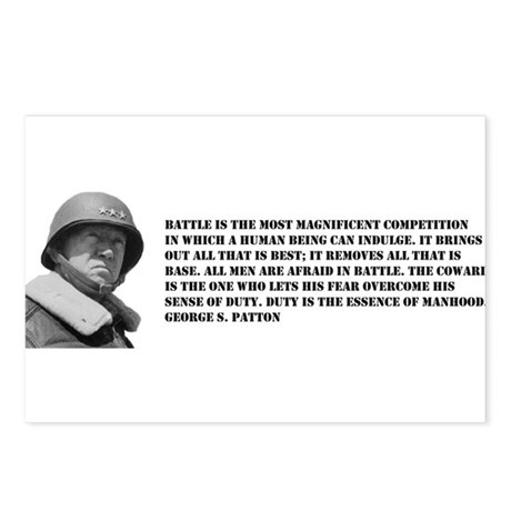 Patton Quote - Battle Postcards (Package of 8)
