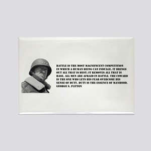 Patton Quote - Battle Rectangle Magnet