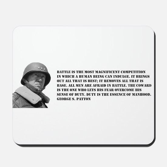 Patton Quote - Battle Mousepad