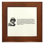 Patton Quote - Battle Framed Tile