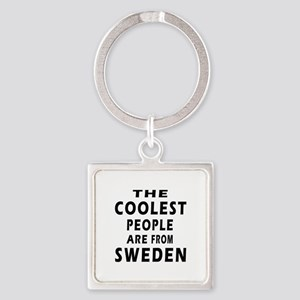The Coolest Sweden Designs Square Keychain