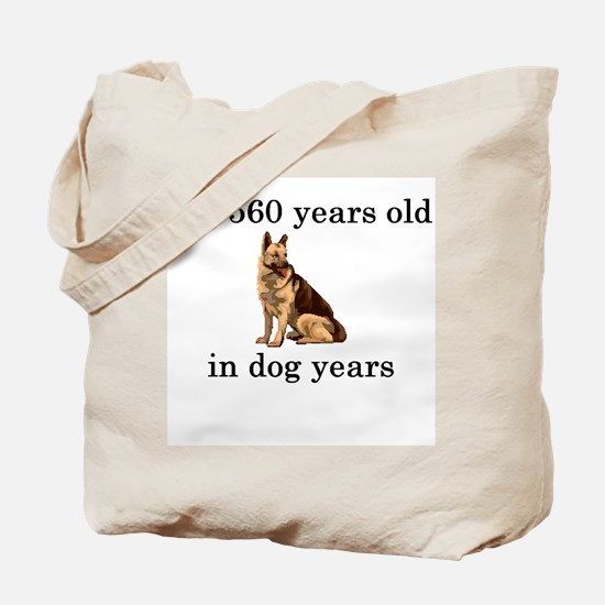 80 birthday dog years german shepherd Tote Bag