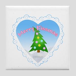 Merry Kissmas Tile Coaster