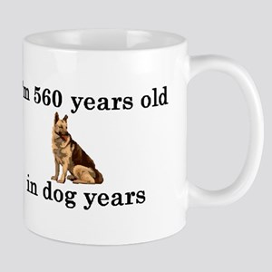 80 birthday dog years german shepherd 2 Mug