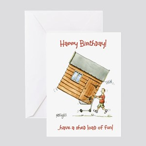 Happy Birthday greeting card - shed load of fun