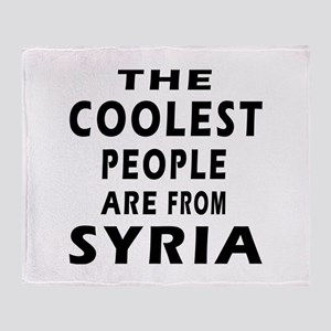 The Coolest Syria Designs Throw Blanket