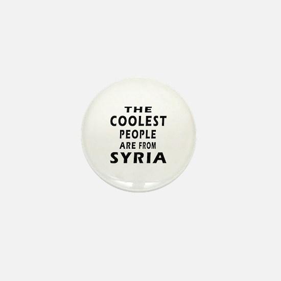 The Coolest Syria Designs Mini Button