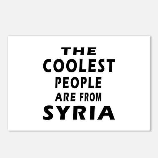 The Coolest Syria Designs Postcards (Package of 8)