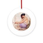 Grecian Girl 1908 Ornament (Round)