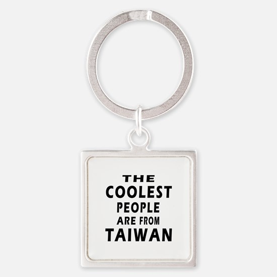 The Coolest Taiwan Designs Square Keychain