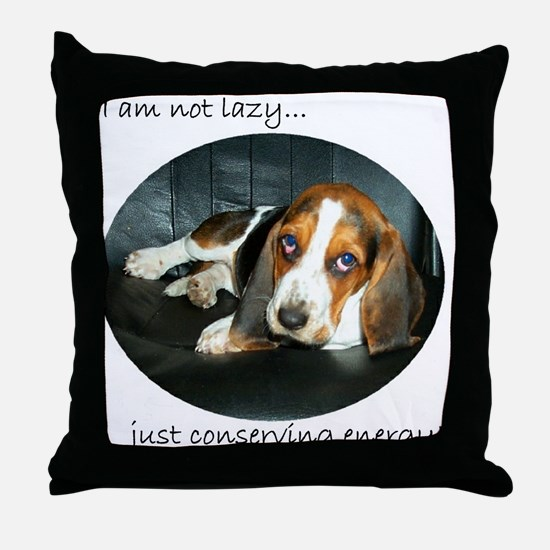 Bassett Love Throw Pillow