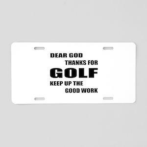 Dear god thanks for Golf Ke Aluminum License Plate