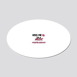 MUSIC-THERAPIST57 20x12 Oval Wall Decal