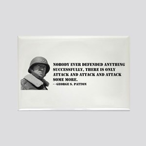 Patton Quote - Attack Rectangle Magnet
