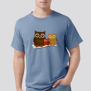 Three Owls Mens Comfort Colors Shirt