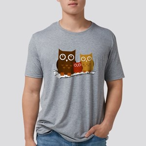Three Owls Mens Tri-blend T-Shirt