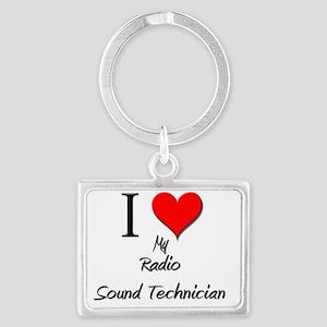 Radio-Sound-Technici130 Landscape Keychain
