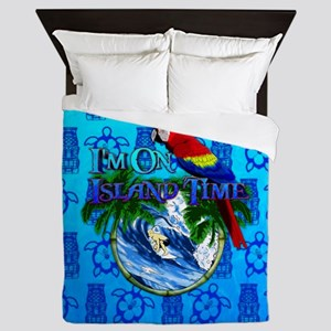 Island Time Surfer Tiki Queen Duvet