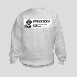 Patton Quote - Die Kids Sweatshirt