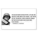 Patton Quote - Die Rectangle Sticker